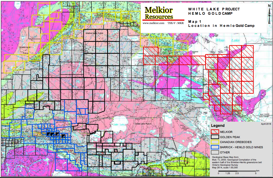 WHITE LAKE PROJECT– HEMLO EXPLORATION – Junior Gold